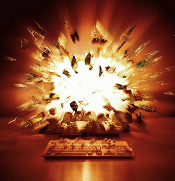 COMPUTER EXPLODING