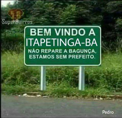 Itapetinga na placa